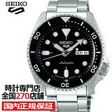 セイコー 5スポーツ SBSA005 メンズ 腕時計 メカニカル 自動巻き ブラック デイデイト 日本製