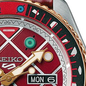 《11月22日発売/予約》セイコー5スポーツジョジョの奇妙な冒険黄金の風コラボディアボロSBSA034メンズ腕時計メカニカル自動巻き日本製