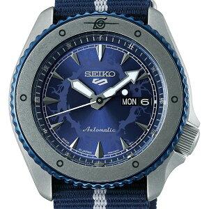 《12月11日発売/予約》セイコー5スポーツNARUTO&BORUTOコラボレーション限定モデルサスケSBSA091メンズ腕時計メカニカルクロスバンド日本製