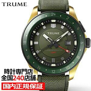 《11月19日発売/予約》TRUMEトゥルームLコレクションブレークラインTR-ME2001メンズ腕時計スイングジェネレータ自動巻発電GMTセラミックベゼルグリーンエプソン
