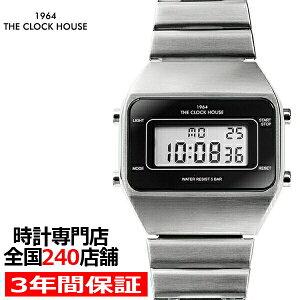 ザ・クロックハウスタウンカジュアルメタルデジタル腕時計ブラックシルバーレトロモダン防水MTC7001-BK1A