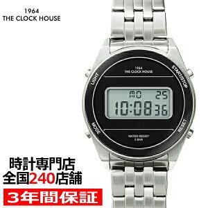 ザ・クロックハウスタウンカジュアルメタルデジタルユニセックス腕時計ラウンドブラックシルバーレトロモダン防水MTC7002-BK1A