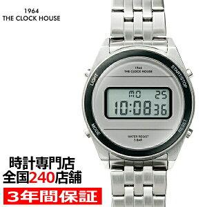ザ・クロックハウスタウンカジュアルメタルデジタルユニセックス腕時計ラウンドグレーシルバーレトロモダン防水MTC7002-GY1A