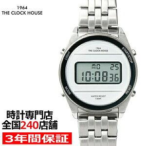 ザ・クロックハウスタウンカジュアルメタルデジタルユニセックス腕時計ラウンドホワイトシルバーレトロモダン防水MTC7002-WH1A