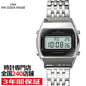 ザ・クロックハウスタウンカジュアルメタルデジタルユニセックス腕時計トノーブラックシルバーレトロモダン防水MTC7003-BK1A