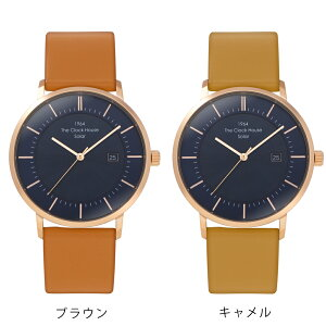 《5月1日発売》ザ・クロックハウスカスタマイズウォッチノルディックカジュアルMCA1004-NV1メンズ腕時計ソーラー革ベルトネイビー