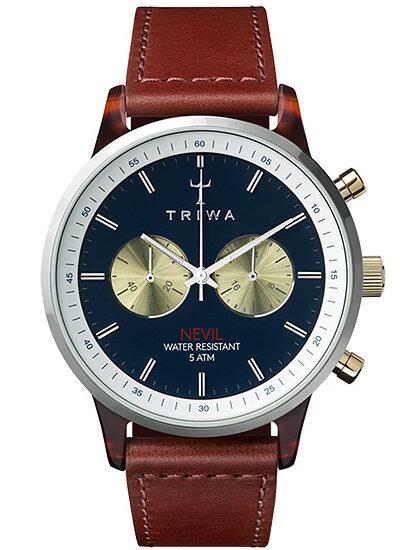 TRIWA トリワ NEAC118:2-SC010313 腕時計 メンズ DUKE NEVIL ネイビー ブラウン ギフト 入学 入社 就職 祝い 就活