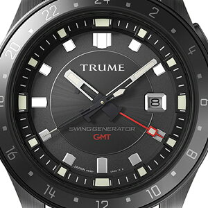 《11月19日発売/予約》TRUMEトゥルームLコレクションブレークラインTR-ME2002メンズ腕時計スイングジェネレータ自動巻発電GMTセラミックベゼルナイロンバンドブラックエプソン