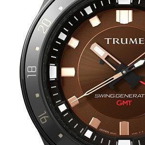 《11月19日発売/予約》TRUMEトゥルームLコレクションブレークラインTR-ME2005メンズ腕時計スイングジェネレータ自動巻発電GMTセラミックベゼルレザーバンドブラウンエプソン