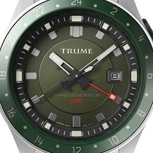 《11月19日発売/予約》TRUMEトゥルームLコレクションブレークラインTR-ME2007メンズ腕時計スイングジェネレータ自動巻発電GMTセラミックベゼルメタルバンドグリーンエプソン
