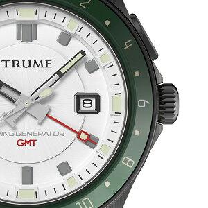 TRUMEトゥルームLコレクションブレークラインTR-ME2010メンズ腕時計スイングジェネレータ自動巻発電GMTセラミックベゼルナイロンバンドホワイトエプソン