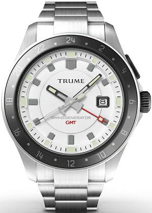 《12月中旬発売/予約》TRUMEトゥルームLコレクションブレークラインTR-ME2011メンズ腕時計スイングジェネレータ自動巻発電GMTセラミックベゼルメタルバンドホワイトエプソン