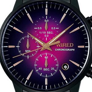 《10月11日発売/予約》セイコーワイアード流通限定モデルクロノグラフトウキョウソラメンズ腕時計パープル10気圧防水AGAT734