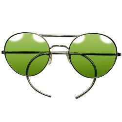 EAYLY期継承ゲキ渋玄人DESIGNブリティッシュミリタリー正式採用品WW2大戦期老舗ALGHA製TYPE-GラウンドAVIATORサングラス丸眼鏡a5561