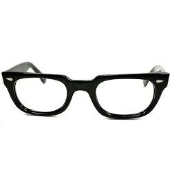 SNOOPY原作者愛用当時人気モデル極上ミント個体1960sAOアメリカンオプティカルMANHATTAN黒眼鏡日本人向けゴールデンサイズ46/23