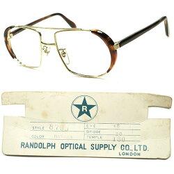 斬新発想ユニークRAREデザインxBRITISHクオリティ1970sデッドストック英国製AVIATORアビエーターSIDEブロータイプHAVANAxGOLD眼鏡