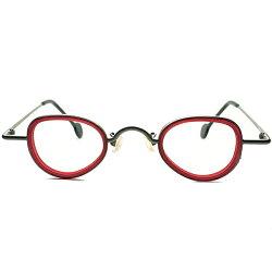 現代ART要素注入ANTIQUEデザイン渾身モデルDEADSTOCK1990sITALY製l.a.Eyeworksアイワークス小径インナーリム変形PANTOラウンドa5670