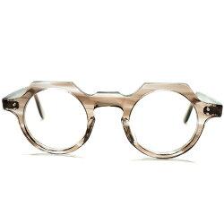芸術的バランスARTテイスト個体デッドストック50sフランス製CROWNPANTOクラウンパントFRESHPINKベース灰茶系鼈甲ビンテージ眼鏡