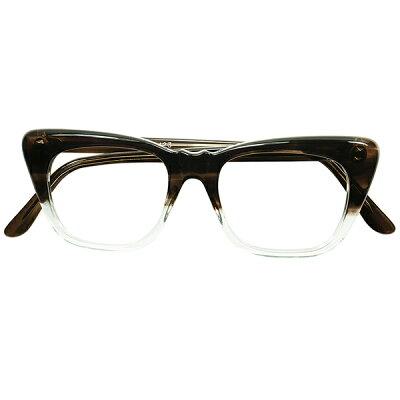 6e6078f5e06b 稀少ディテール&小顔向け SMALLサイズ 1960s デッドストック DEADSTOCK オンライン 英国製 山型BRIDGE ウェリントン  SMOKE AMBER FADE size44/18 ビンテージ 眼鏡 ...