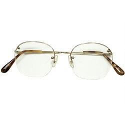 渾身超モダン造形デッドストック1990sイタリア製MADEINITALYl.a.Eyeworks超小径EYE×超ロングマウントANTIQUEBASEラウンド型パントヴィンテージメガネ眼鏡実用的GOODFITA5138