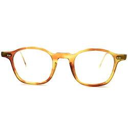 名作生地採用1950s黄金期フランス製MADEINFRANCEキャラメル系AMBER細身NARROWフレンチアーネル実寸41/23GOODSIZEヴィンテージメガネ眼鏡A5323