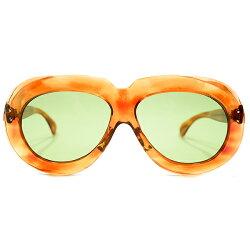 極上アバンギャルドSHAPEデッドストック1950sフランス製MADEINFRANCE2DOTラウンドワイドリム鼈甲柄PANTOパントフレーム日本製ガラスレンズ入サングラスヴィンテージメガネ眼鏡A4441
