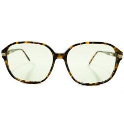 現代的サングラス仕様デッドストック1980s英国製MADEINENGLANDオリバーゴールドスミスOLIVERGOLDSMITHLEOPARD系鼈甲生地バネ蝶番式ナローウェリントンヴィンテージ眼鏡サングラス日本製G31ガラスレンズ入A4443