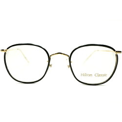 TRUEMODERNクラシックデッドストック1970s-1980s英国製MADEINENGLANDヒルトンクラシックHILTONCLASSIC黒セル巻14KTGF本金張りコンビネーションパントPANTOヴィンテージメガネ眼鏡A4606
