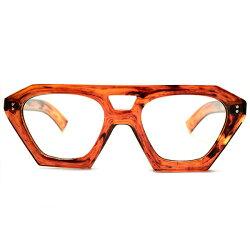 OLDSTYLEレアシェイプデッドストック1940sフランス製MADEINFRANCE極太芯なしテンプル仕様W-BRIDGE肉厚クラウンパントCROWNPANTO手塗り風AMBER50/22ヴィンテージメガネ眼鏡A4681