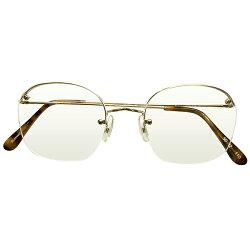 古典的MODERNCLASSICデッドストック1970s-1980s英国製MADEINENGLANDsavilerowbyALGHAアルガRIMWAYセミリムレス14KTRG本金張ヴィンテージ眼鏡メガネGOODSIZE50/22A4721