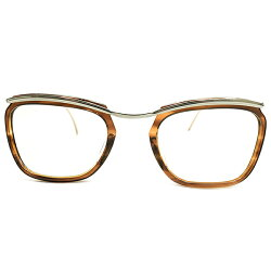 FRENCHスタンダード×超GOODSIZEデッドストック1950s-1960sフランス製MADEINFRANCEアモールAMORSTYLEシルバーメタル×鼈甲柄コンビネーションフレーム実寸48/23ヴィンテージメガネ眼鏡A4748