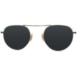 激渋ミリタリーオーラ1930sデッドストックアメリカ製MADEINUSAボシュロムBAUSCH&LOMB1/1012KGF本金張ゴールドUPPERBRIDGEアビエータースタイルヴィンテージ眼鏡サングラスUSA製デッドストックダークグレーガラスレンズ入A4803