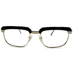 マニア垂涎超名作モデルデッドストック1960s西ドイツ製MADEINWESTGERMANYローデンストックRODENSTOCKリチャードRICHARD正真正銘オリジナル黒×本金張りGOLDsize56/20ヴィンテージメガネ眼鏡A4864