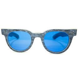 超レアカラーALLBLUE仕様デッドストック1980sHANDMADEINUSAハンドメイドアメリカ製SHADYCHARACTERNYCシャディーFDRラベンダーMARBLEsize48/24日本製インディゴBLUEガラスレンズ入サングラスヴィンテージメガネ眼鏡A4878