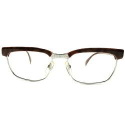 絶頂期名作レアカラー1960s西ドイツ製RODENSTOCKローデンストックARNOLDアーノルドオリジナルDEMI×ホワイトGOLD本金張size56/18ビンテージ眼鏡メガネA4943