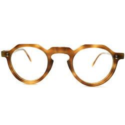 超GOODSIZE&即戦力優秀個体デッドストック1950sフランス製オリジナル鼈甲柄CROWNPANTOクラウンパント眼鏡実寸42/26AMBERビンテージメガネ眼鏡A4947