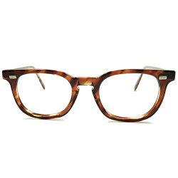 超STYLISHミントコンディション1960sアメリカ製MADEINUSAアメリカンオプティカルAMERICANOPTICALAO鼈甲柄ナロー細身仕上ウェリントンヴィンテージメガネ眼鏡44/20A4976