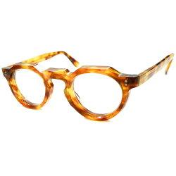 超人気モデル国内未確認カラーデッドストック名作生地採用希少個体1950s-1960sフランス製MADEINFRANCE鼈甲柄8mm厚クラウンパントヴィンテージメガネ眼鏡最強スペックsize44/24A4983
