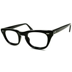 超優秀実用的&レアサイズ44/221960sUSA製MADEINUSAボシュロムB&LBAUSCHLOMBUSSミリタリー艶黒BLACKウェリントンフレームヴィンテージメガネ眼鏡A4998