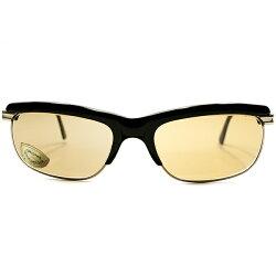 ハイデザイン&最上QUALITYデッドストック1960s-1970s西ドイツ製MADEINWESTGERMANYローデンストックRODENSTOCK硬質黒セル×1/20-12K本金張りコンビネーションブロータイプサングラスLAUSANNEsize56/18ヴィンテージメガネ眼鏡A5011