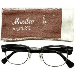 玄人向短縦シェイプ&ゴールデンsize44/24専用布帛付デッドストック1950s-1960sUSA製MADEINUSASROSTYLRITEOPTICSブラックウッド×1/1012KGFホワイトゴールドブロータイプヴィンテージメガネ眼鏡A5022