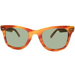衝撃的超レアカラー1960s-1970sUSA製MADEINUSAボシュロムレイバンB&LRAYBANウェイファーラー1WAYFARER1HONEYAMBERB&L製ロゴなしG15オリジナルガラスLENS入サングラスsize50/24ヴィンテージメガネ眼鏡A5058