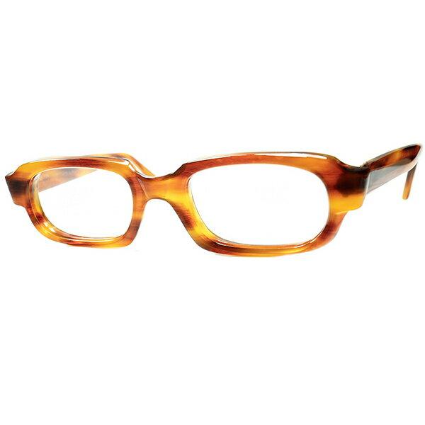 眼鏡・サングラス, 眼鏡 1960s 160;DEADSTOCK MADE IN ENGLAND STYLEHONEY AMBER size5020 160; 160; a6741