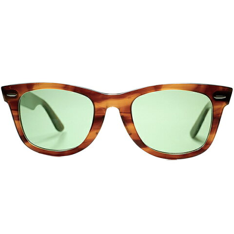 オールドテイスト仕立て極上個体1970s USA製 B&L RAYBAN ボシュロム レイバン WAYFARER 1 ウェイファーラーAMBER 50/22 日本製#2ガラスLENS サングラス ビンテージヴィンテージ 眼鏡メガネ a6908