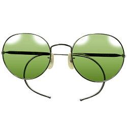 完品メタルケース付デッドストック1940s-1950sフランス製MADEINFRANCEフレンチミリタリーアビエーターヴィンテージ眼鏡サングラス当時物フラットガラスレンズ入A5304