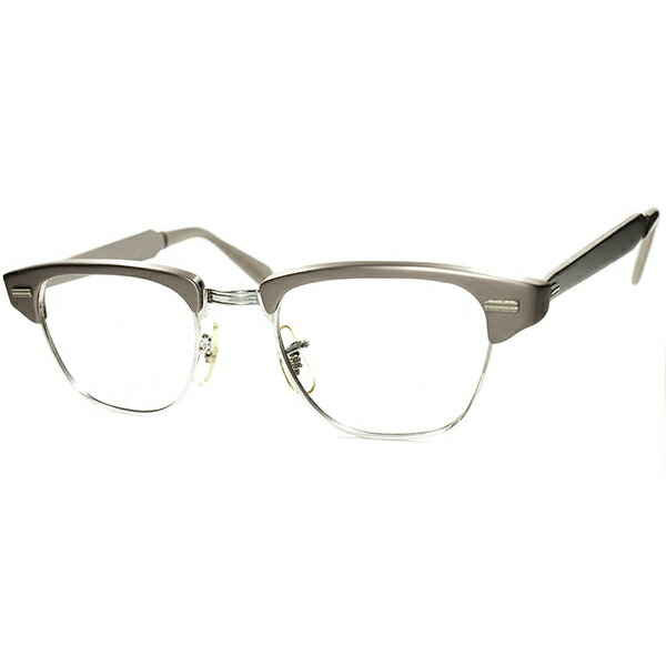 眼鏡・サングラス, 眼鏡 UNISEX 1960s USA DEADSTOCK US OPTICAL CLASSIC GRAYISH PINK size4420 160; 160; a6161