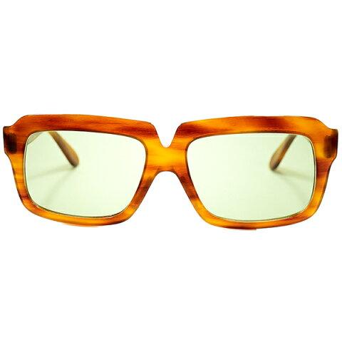 異色コラボ 1960s-70s USA製 ボシュロムレイバン B&L RAYBAN for Arnold Palmer スクエア系 ウェリントン サングラス HONEY AMBERxB&L製#2 LENS ビンテージヴィンテージ 眼鏡メガネ a6528