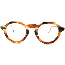 GOODLOOKING&秀逸ミルフィーユ調カラーデッドストック1950sフランス製MADEINFRANCEオリジナルCROWNPANTOクラウンパントヴィンテージメガネ眼鏡GOODSIZE41/23A4036