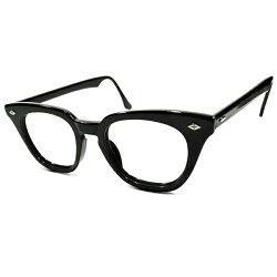 朗報WideFace向個体1960sUSA製MADEINUSAボシュロムB&LBAUSCHLOMBダイヤクロスHINGE艶黒生地ウェリントンフレームロングテンプル仕様size48/20ヴィンテージメガネ眼鏡A4085