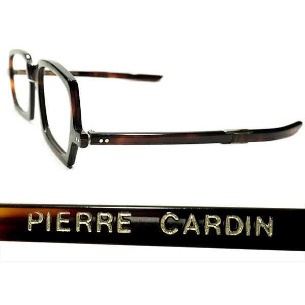 実用的AVANT-GARDE デッドストック 1950s-1960s フランス製 MADE IN FRANCE ピエールカルダン PIERRE CARDIN ミリタリーシェイプ 折畳み式FOLDING DEMI AMBER ヴィンテージ メガネ 眼鏡 A4269